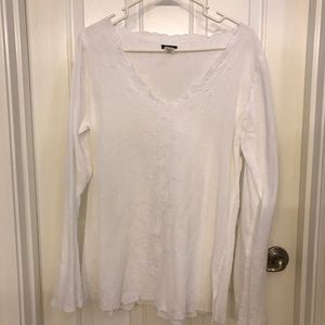 J Crew Boho Embroidered Top Size L
